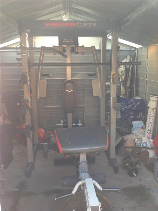 weider c875 olympic smith machine