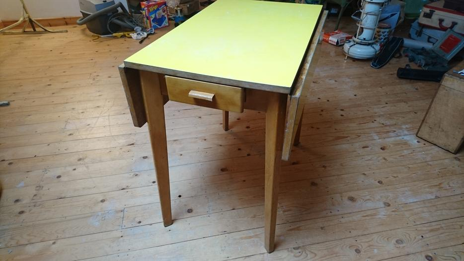 Vintage retro 1960s formica top fold down dining kitchen table all orig g c stourbridge dudley - Formica top kitchen table ...