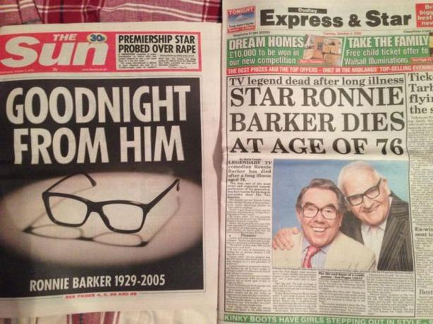Ronnie barker Papers