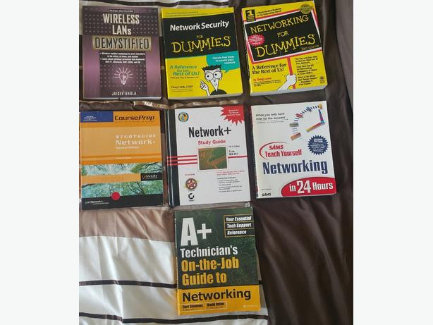 Network+ and A+ computer IT Technician books CompTia