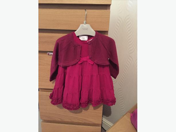 Baby girls dress & matching cardigan 3/6 months