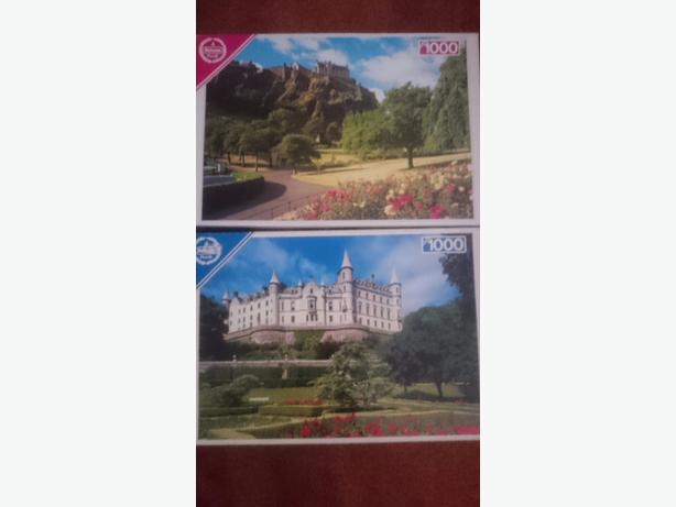 x2 1,000 puzzles £1.50each or both for £2.50