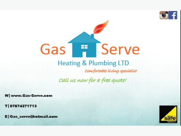 FOR TRADE: Gas Serve Heating & Plumbing Limited