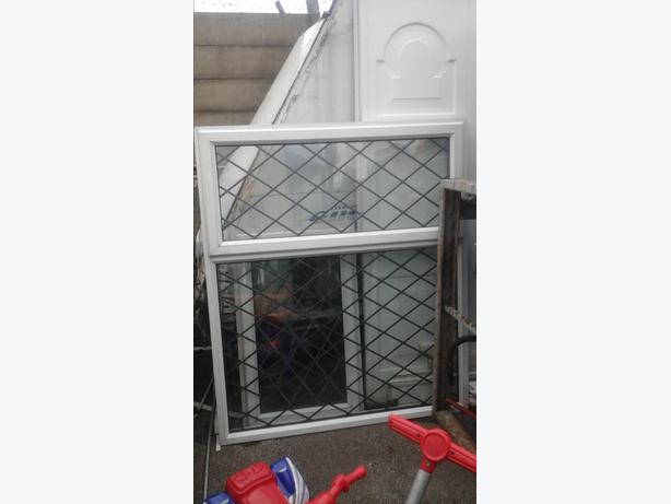 2 x large upvc  double glazed window bay for door extension or shed