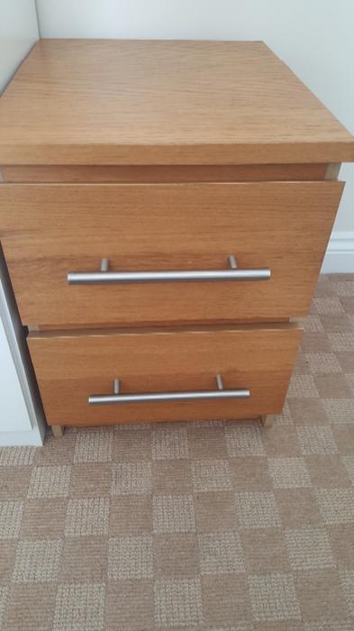 ikea malm bedside tables x2 dudley wolverhampton. Black Bedroom Furniture Sets. Home Design Ideas