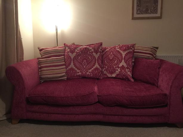 Dfs 3 Seater Sofa Cuddle Chair And Pouffe Stourbridge Dudley
