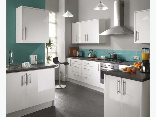 7 Piece Kitchen Units - White Gloss - BRAND NEW