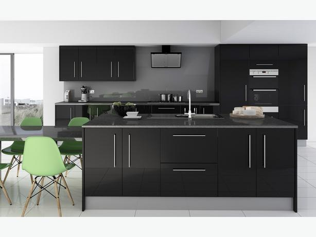 7 Piece Kitchen Units - Grey Glass Effect - BRAND NEW