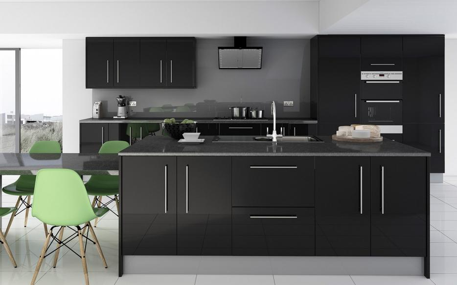 7 piece kitchen units grey glass effect brand new for 300mm deep kitchen units