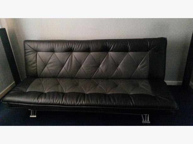modern leather look sofa bed dudley dudley. Black Bedroom Furniture Sets. Home Design Ideas