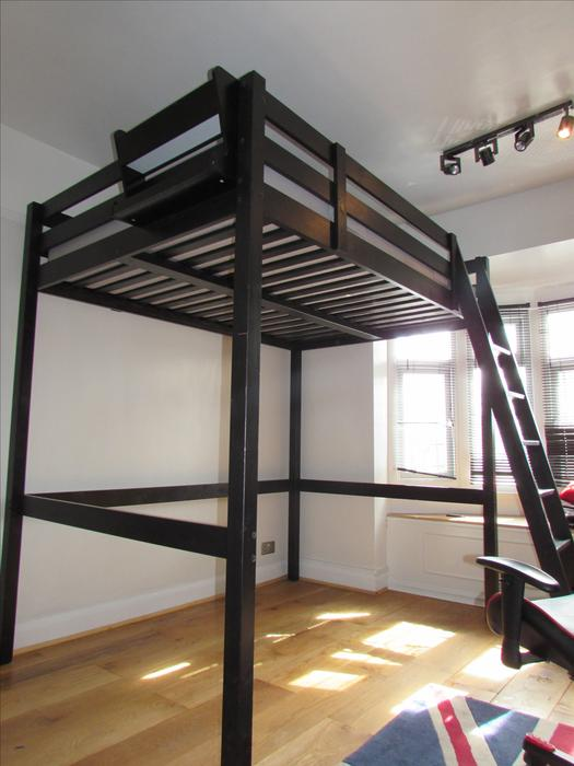 ikea stora loft bed and mattress double high sleeper dudley