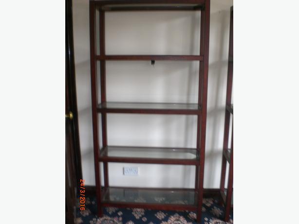 wall unit book case vgc