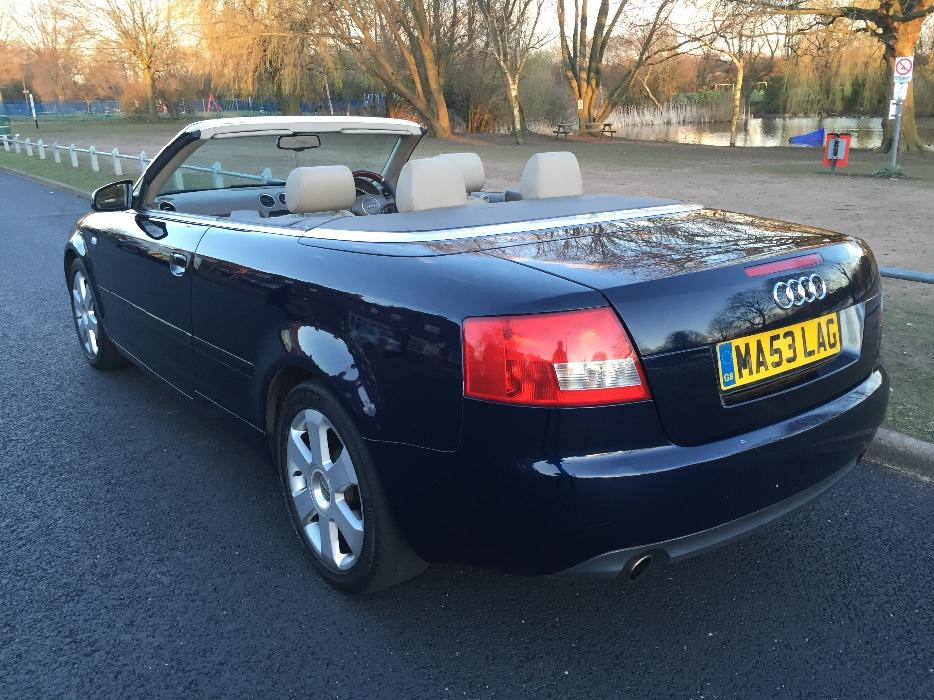 2004 53 audi a4 cabriolet convertible 2 4 v6 auto tipton wolverhampton. Black Bedroom Furniture Sets. Home Design Ideas