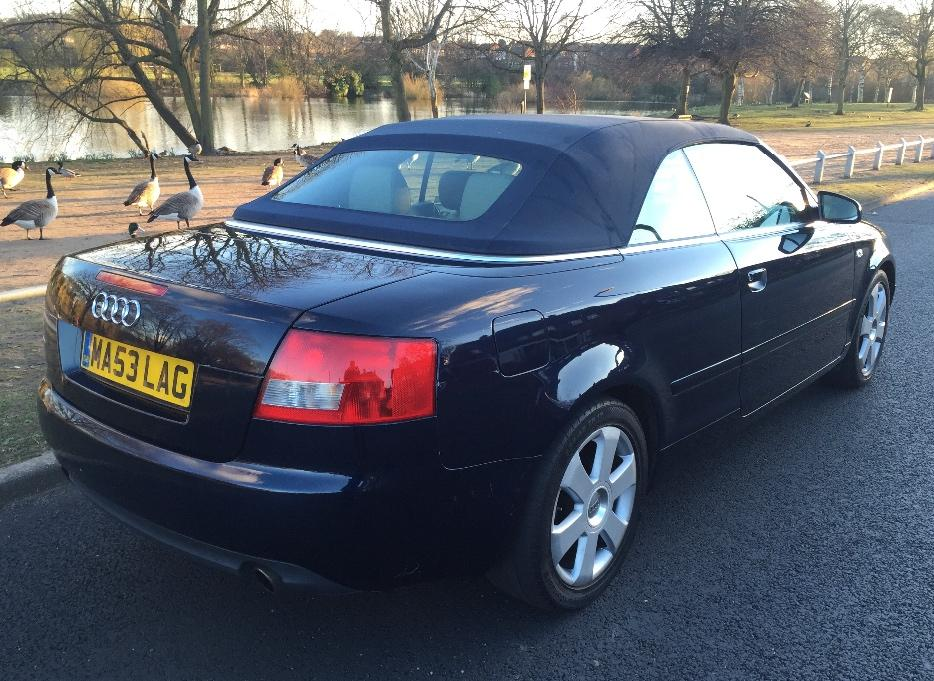 2004 53 audi a4 cabriolet convertible 2 4 v6 auto tipton sandwell. Black Bedroom Furniture Sets. Home Design Ideas