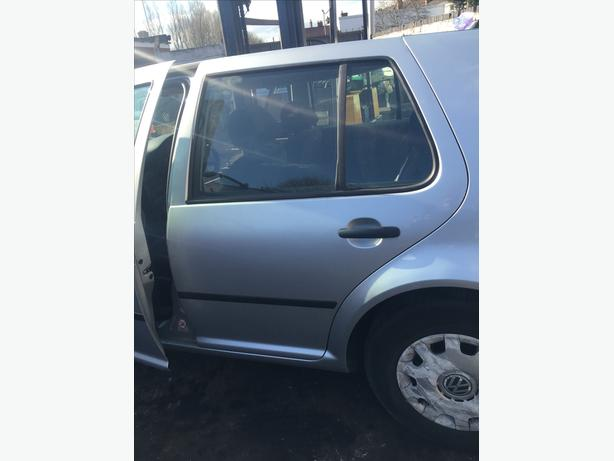 VW GOLF DOOR MK4 N/S/R BACK PASSENGER 2001-2005 REFLEX SILVER COMPLETE