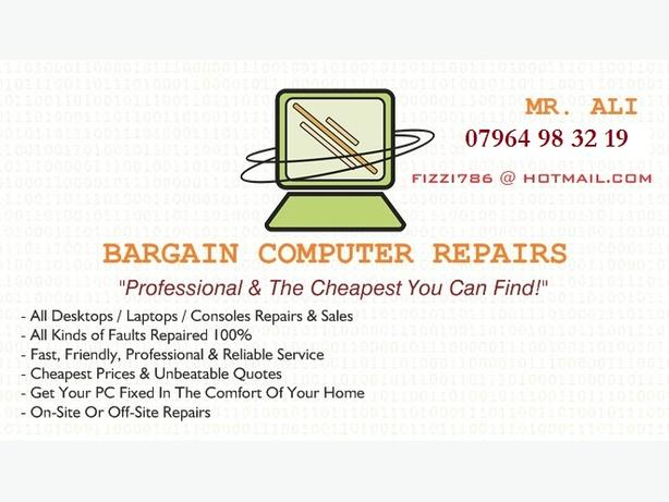 BARGAIN PC / LAPTOPS AND CONSOLE REPAIRS! *FREE CALLOUT*