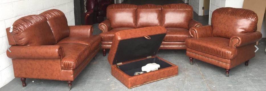 ex display chesterfield style leather look sofa set we deliver uk wide smethwick dudley. Black Bedroom Furniture Sets. Home Design Ideas