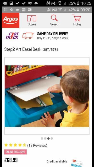 Childrens Easel Desk Like New Walsall Wolverhampton