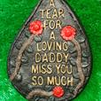 Cast Concrete Memorial Plaques TearDrops