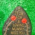 Cast Concrete Memorial Plaques TearDrops