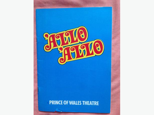 allo allo signed theatre program
