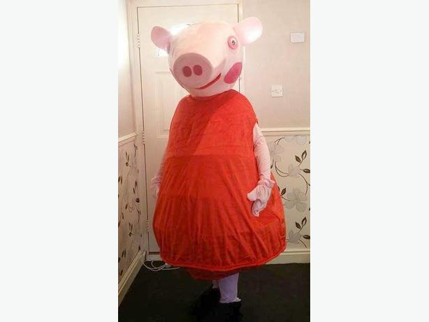 peppa pig mascot costume for hire