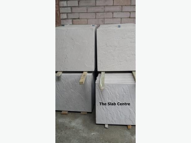 "Natural Grey Riven Paving slabs 450mmx450mm (18""x18"")"