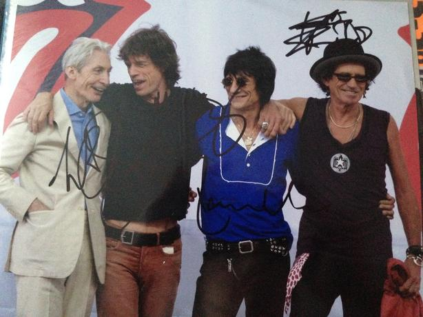 Rolling Stones signed 10 by 8 photo needs to be gone ASAP