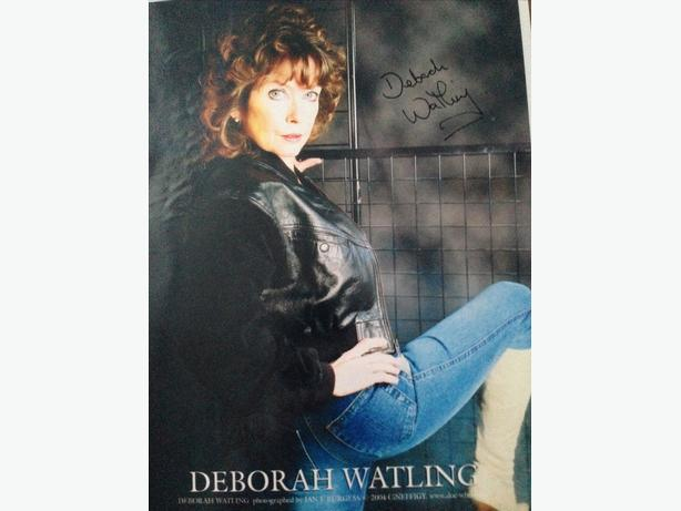 deborah Watling Signed Photo