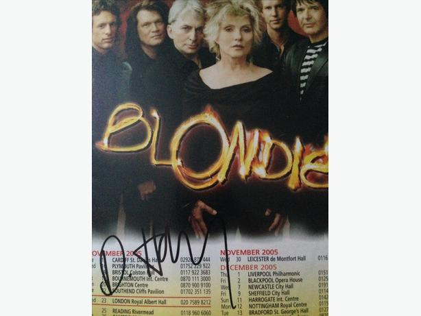 Blondie Debbie Harry Signed With COA