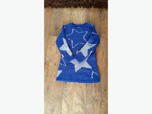 Girls blue and silver jumper age 4.