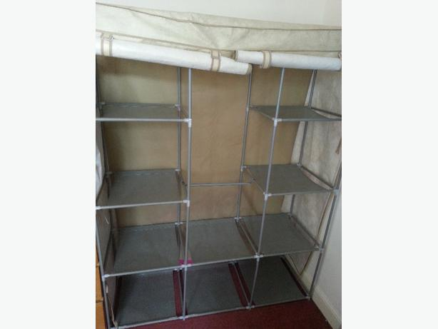 Two metal/canvas framed wardrobe's