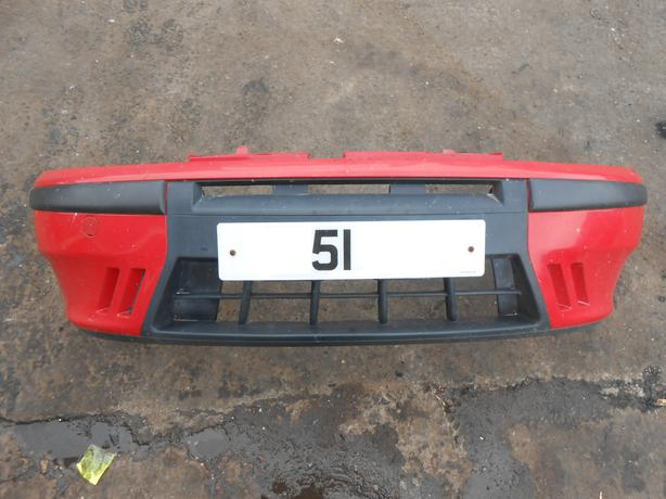 FIAT PUNTO 188 MK2 2001 COMPLETE FRONT BUMPER RED