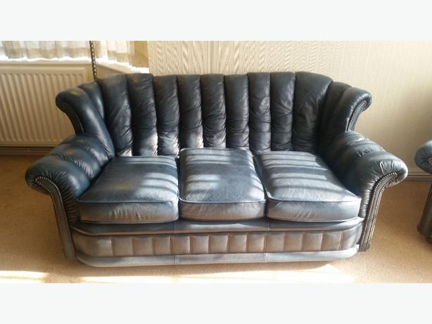 5 Piece Leather Sofa Penn Dudley