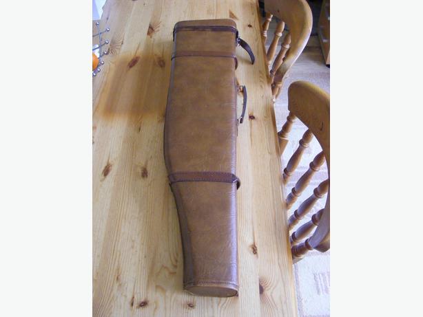 vintage leg of mutton  leather gun case