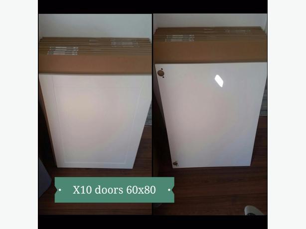 brand new shaker style ikea kitchen cupboard doors.