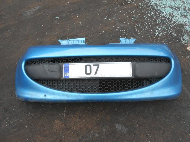 PEUGEOT 107 2005 - 09 COMPLETE FRONT BUMPER BLUE