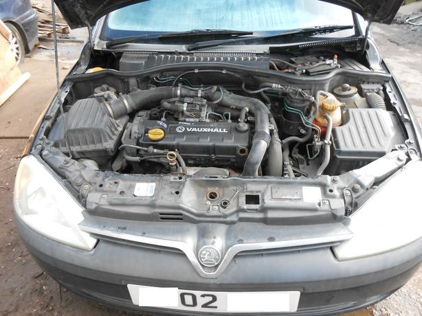 VAUXHALL CORSA C COMBO 2002 1.7 DTI 16V COMPLETE ENGINE & GEARBOX Y17DT F13