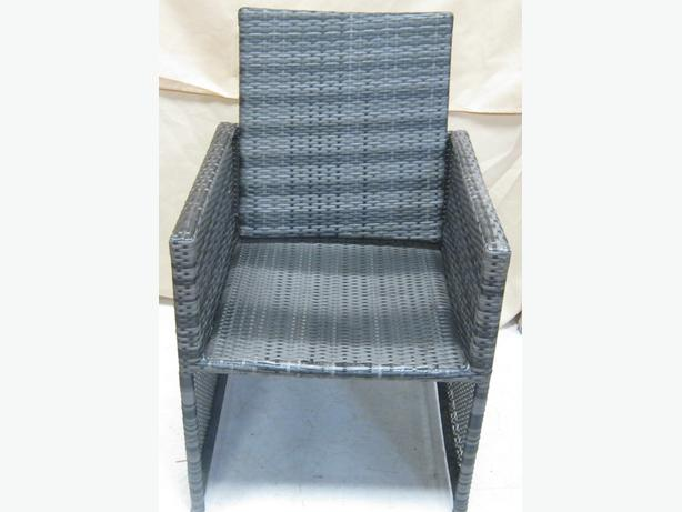 Rattan Chair  Grey/Black