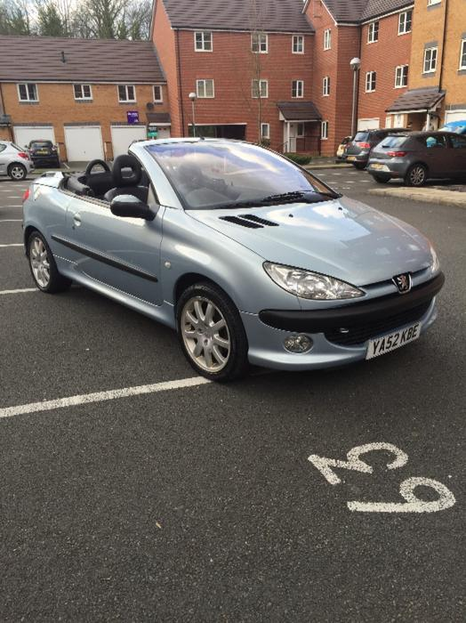 peugeot 206cc convertible 1 owner 60 000 miles mot january 2017 halesowen sandwell. Black Bedroom Furniture Sets. Home Design Ideas