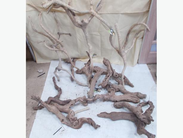 ProRep 15 Pce Joblot  of Reptile Vine Wood and Bamboo Roots