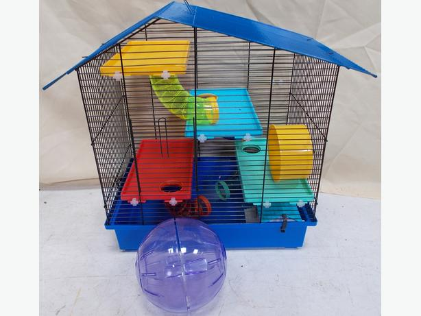 Multi Colour Hamster Rodent Cage With Ball