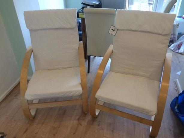 Two armchairs rocking chairs stourbridge walsall - Chairs similar to poang ...