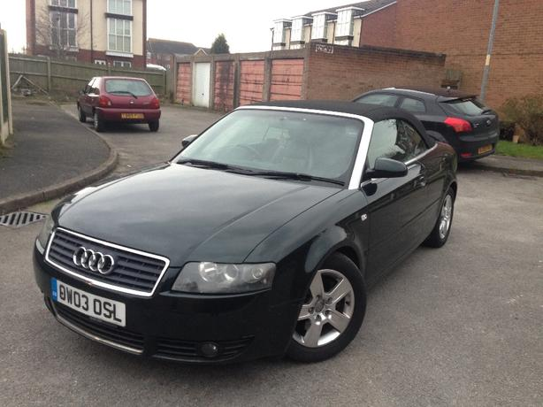 Audi A4 Convertible Luxury Edition Full Black Leathers