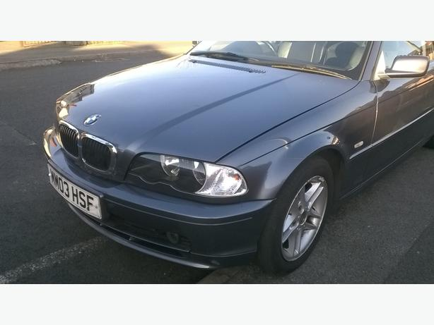 breaking bmw 318ci coupe 2003 e46 grey with black leathers. Black Bedroom Furniture Sets. Home Design Ideas