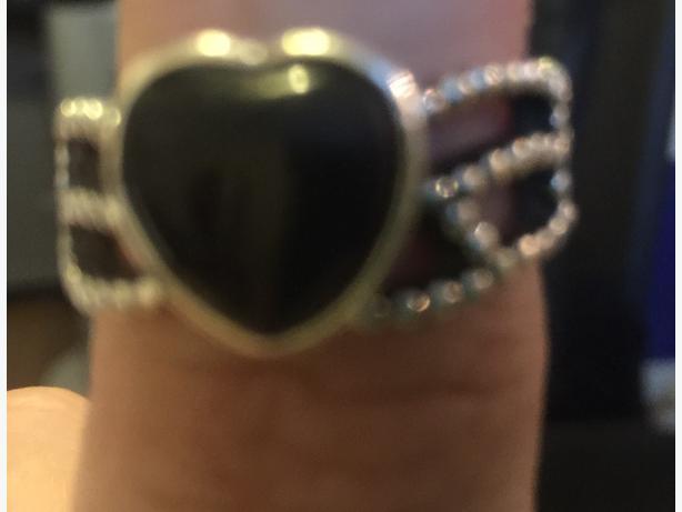 Pandora Black Onyx Heart Ring