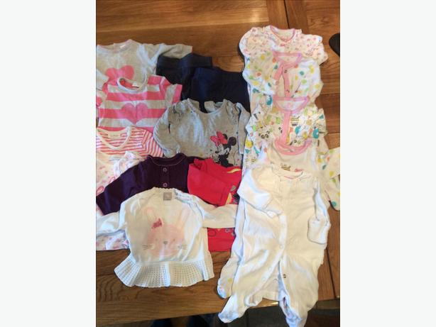 Aged to one month clothing bundle