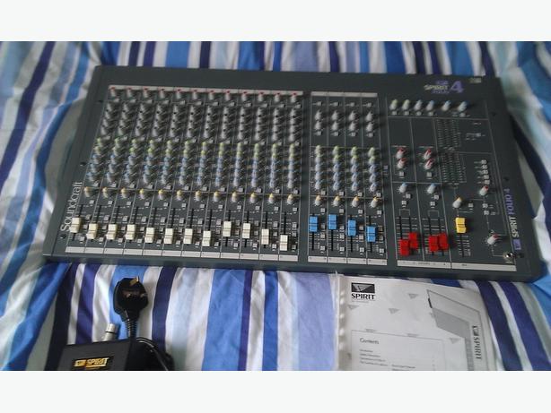 Soundcraft spirit folio 4 mixing desk WOLVERHAMPTON, Wolverhampton