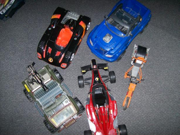 selection of Action Man vehicles