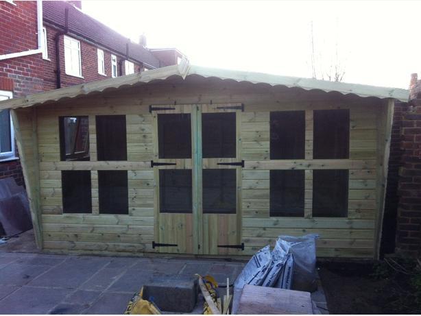 14x8 tanalised garden summer house